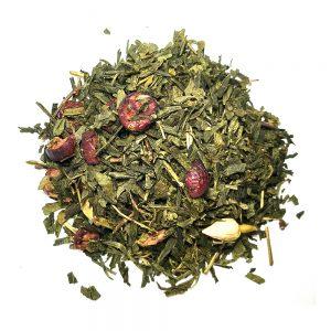 Cranberry Rose πράσινο τσάι με φρούτα και λουλούδια