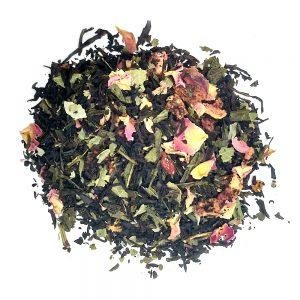 Wild Strawberry and Cream μαύρο και πράσινο τσάι με φρούτα